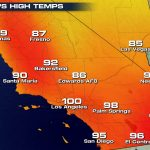 Record Heat Southern California California Map With Cities   Southern California Heat Map