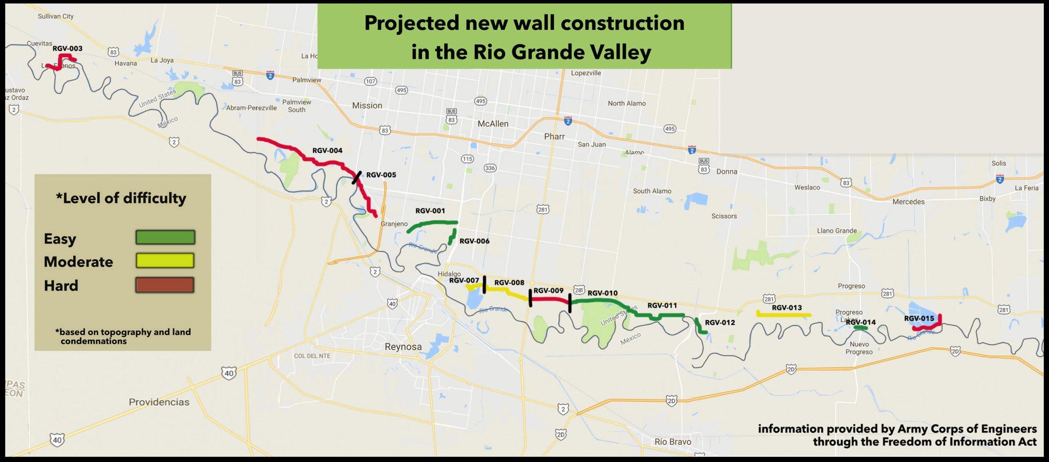 Records Show Where Trump Plans To Build Texas Border Wall - Border Patrol Checkpoints Map Texas