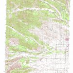 Red Bluff West Topographic Map, Ca   Usgs Topo Quad 40122B3   Ono California Map