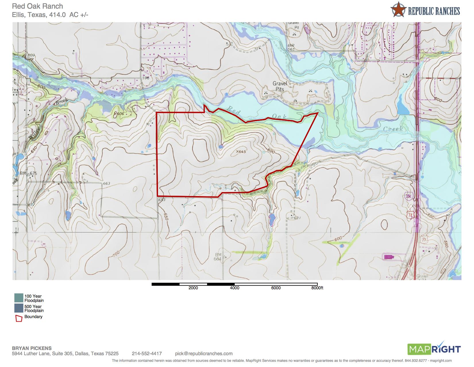 Red Oak Ranch - Red Oak Texas Map