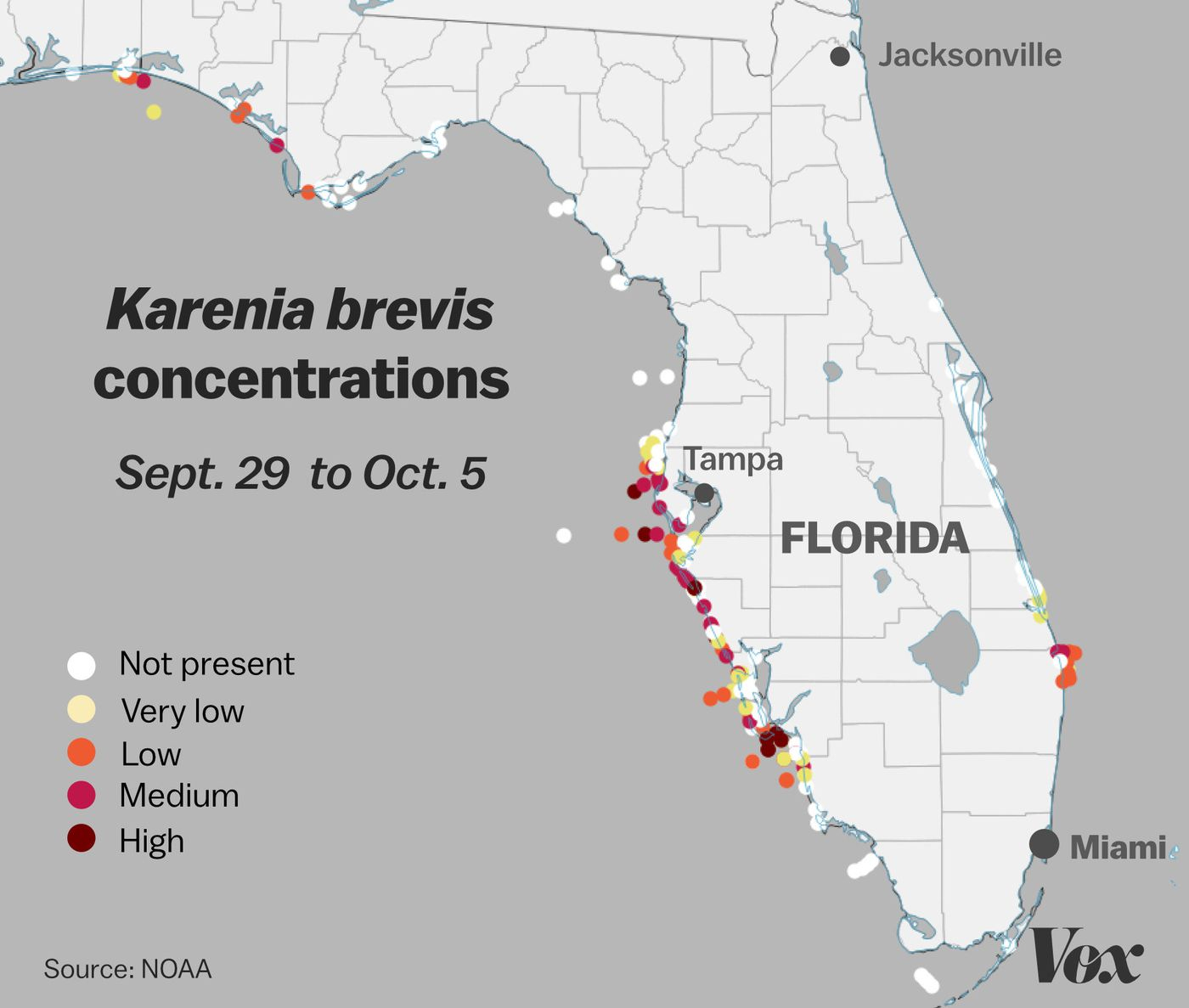 Red Tide: Why Florida's Toxic Algae Bloom Is Killing Fish, Manatees - Current Red Tide Map Florida