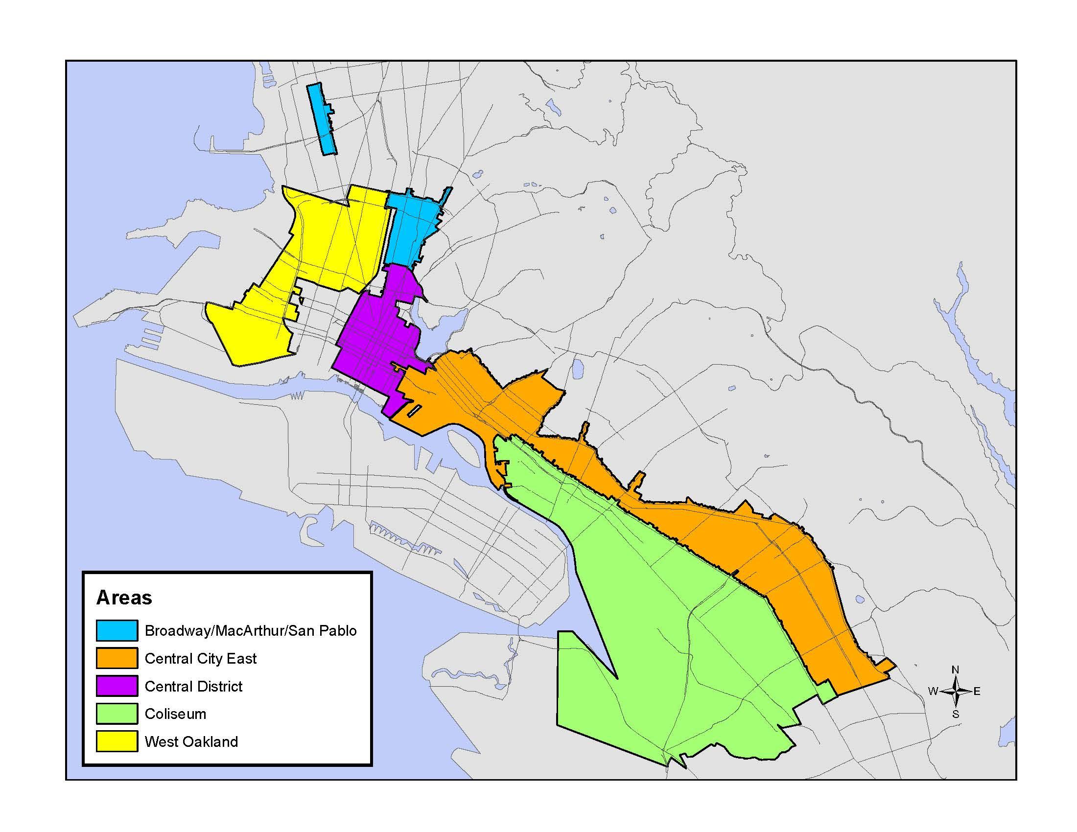 Redevelopment Grant Programs | Major Programs | City Of Oakland - Oakland California Map