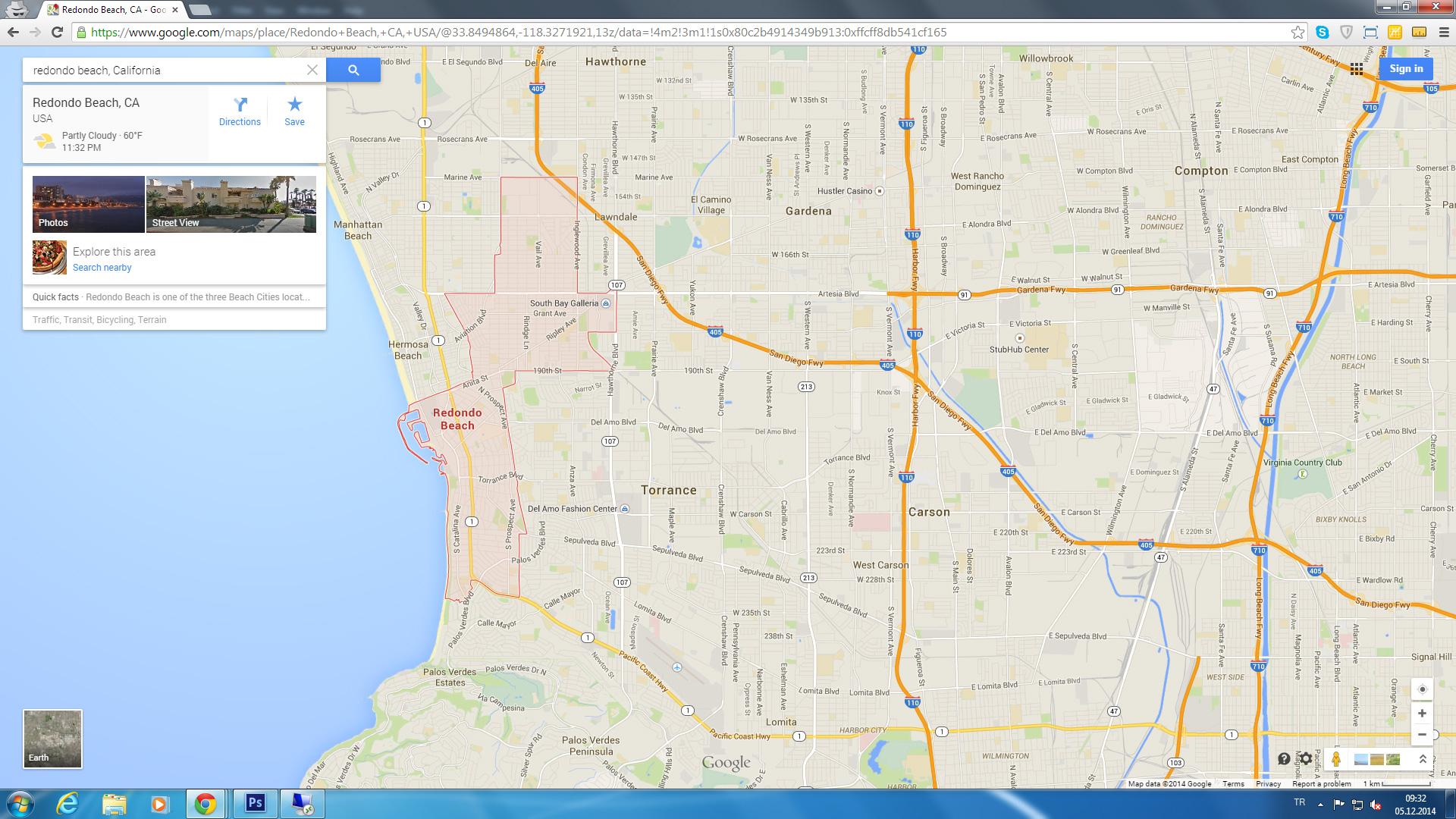 Redondo Beach California Map - Klipy - Redondo Beach California Map