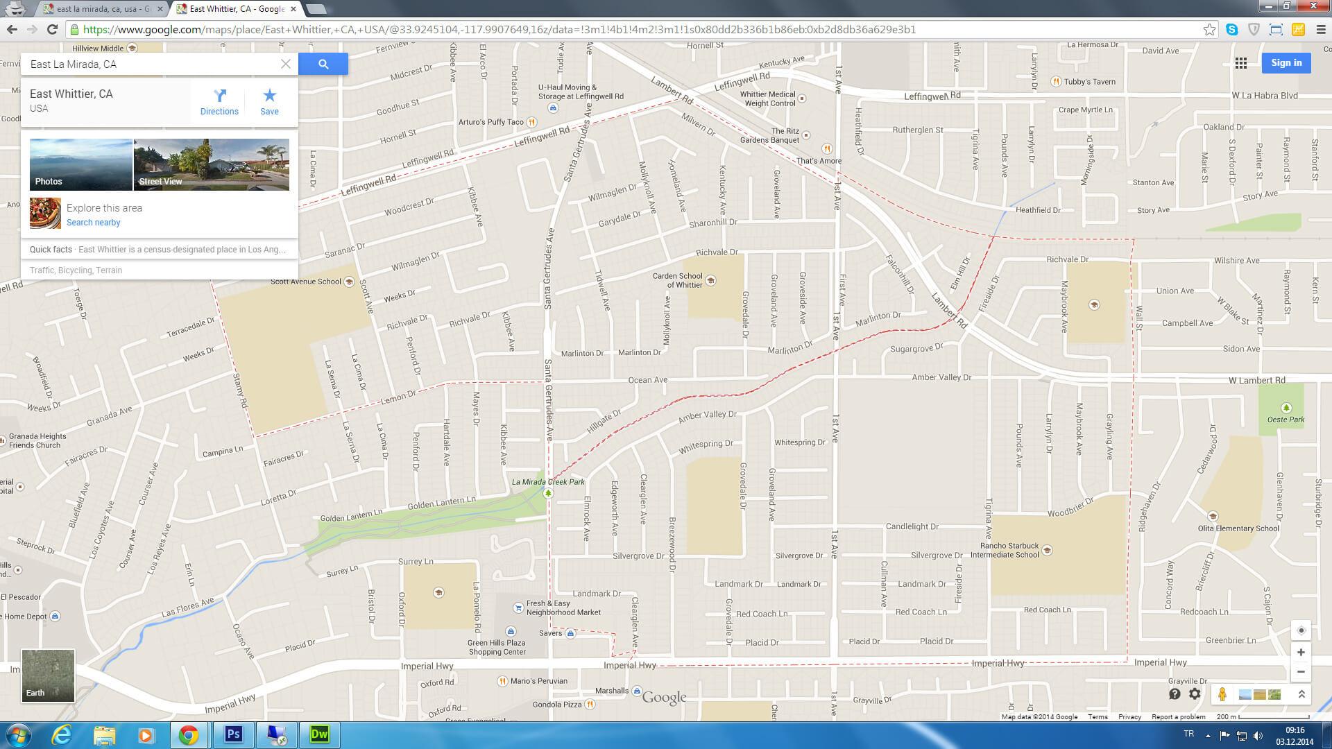 Redondo Beach Google Map Printable Maps East La Mirada California - Redondo Beach California Map