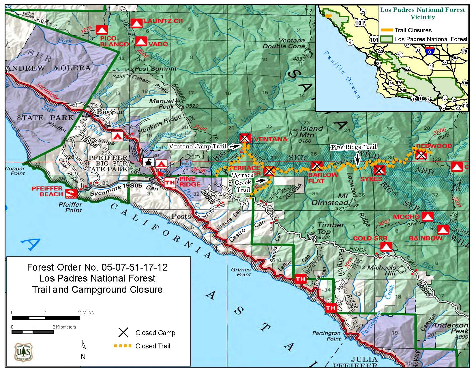 Redwood Forest California Map New Sykes Camp - Ettcarworld - Redwood Forest California Map