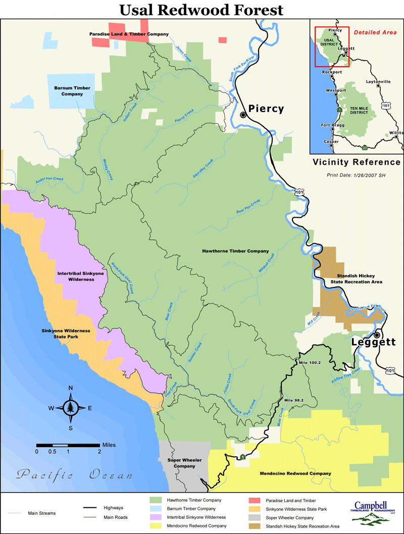 Redwood Forest Map The Only Redwoods In World Giant Sitka Within - California Redwood Parks Map