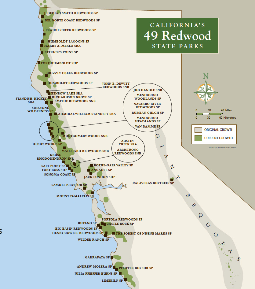 Redwood Parks Pass Google Maps California Map California State Parks - Northern California National Parks Map