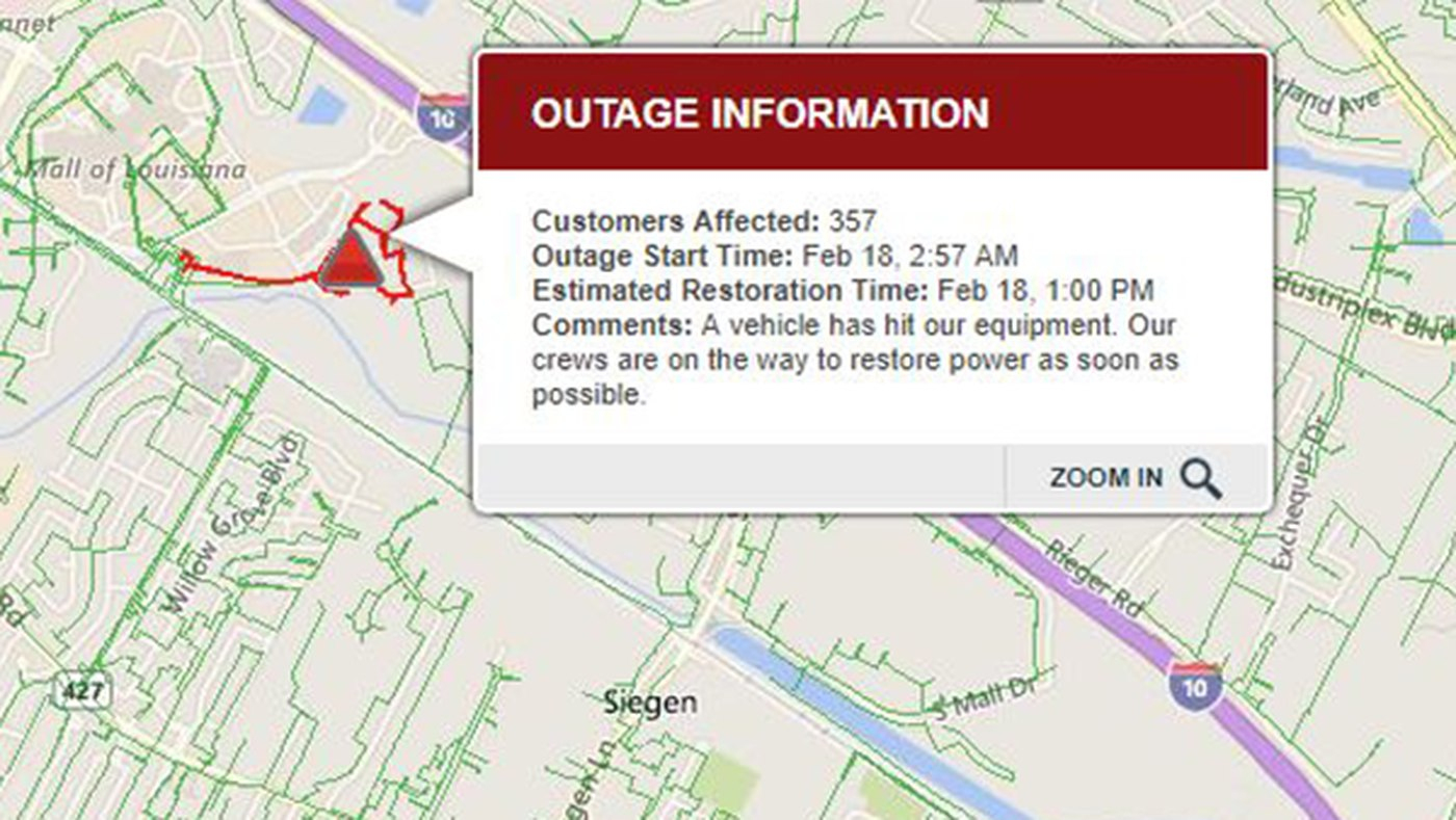 Reference Of Map With States. Entergy Louisiana Outage Map - Entergy Texas Outage Map