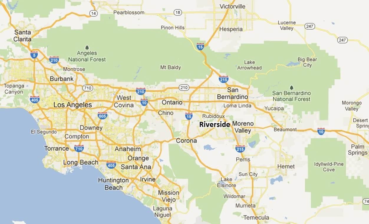 Regionalmap Google Riverside Best Maps Riverside County California - Printable Map Of Riverside County