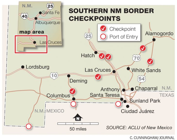 Border Patrol Checkpoints Map Texas
