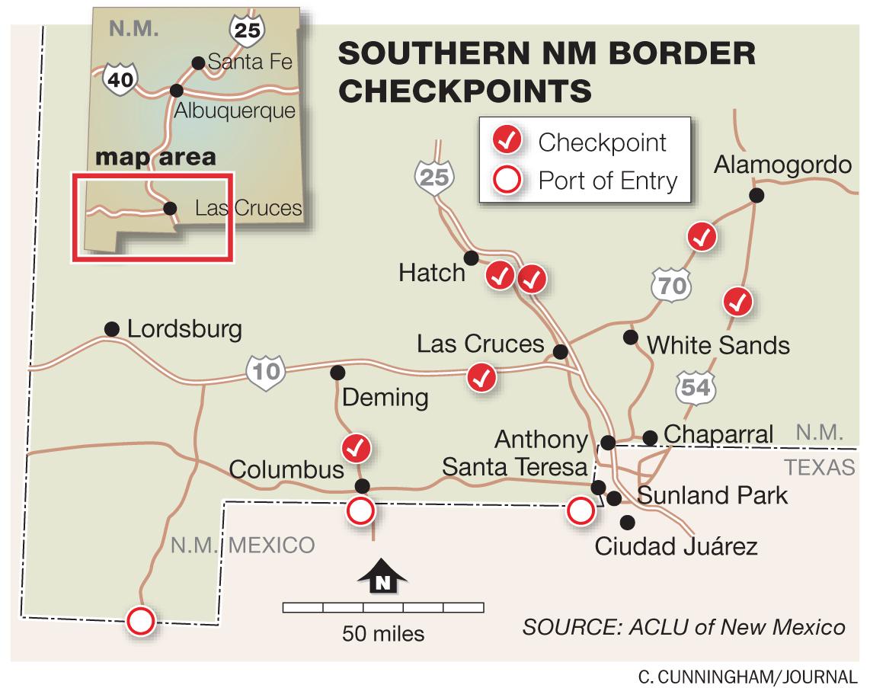 Report Alleges 'abusive Behavior'border Agents » Albuquerque Journal - Border Patrol Checkpoints Map Texas
