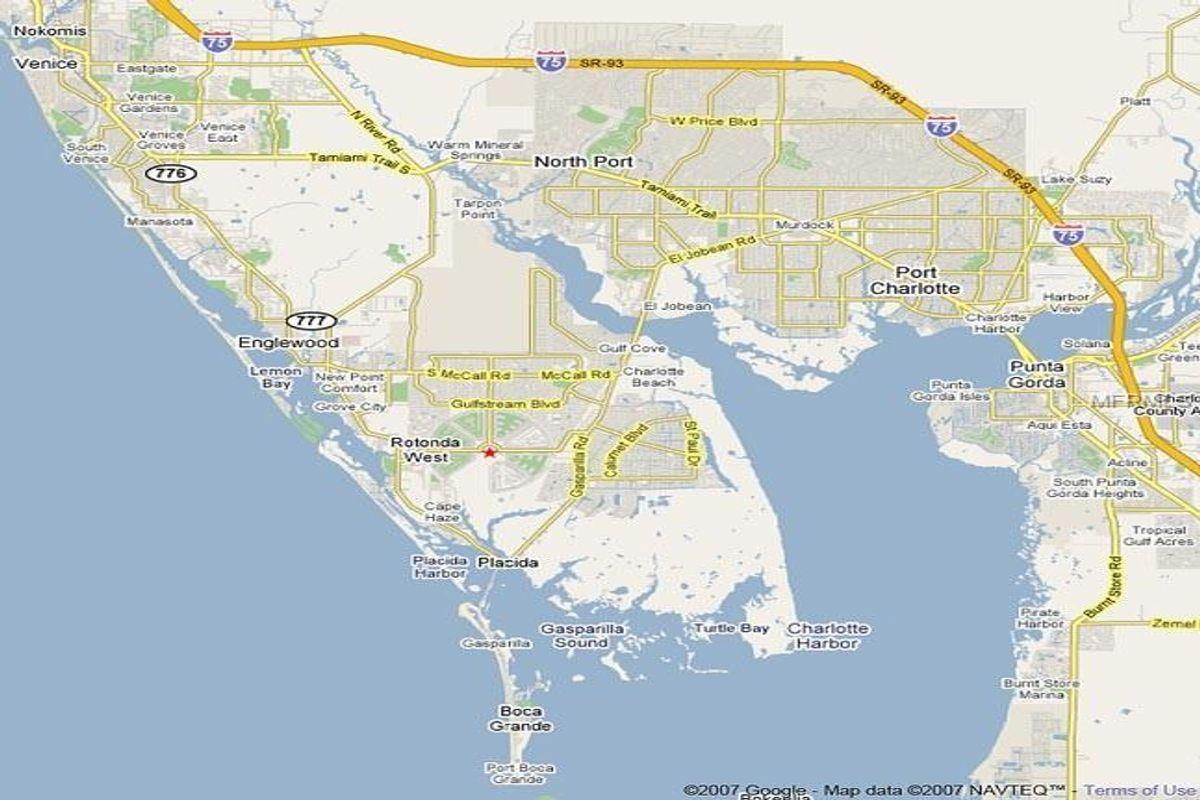 Residential For Sale Rotonda West, Fl - 187 Antilla Dr 33947 - Rotonda Florida Map
