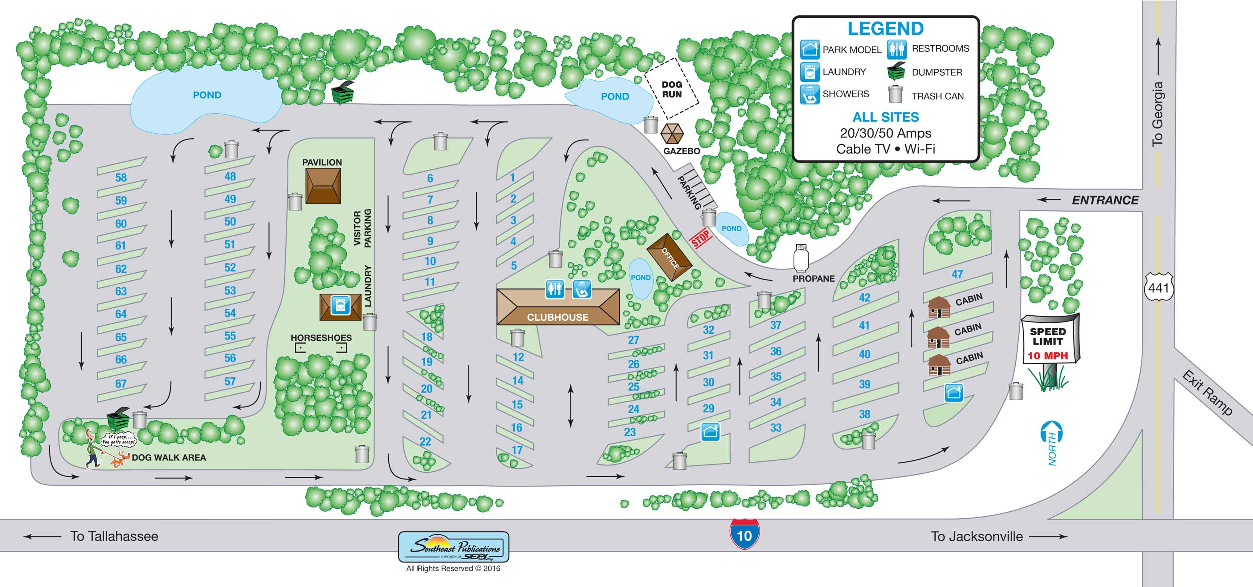 Resort   Lake City Rv - Map Of Lake City Florida And Surrounding Area