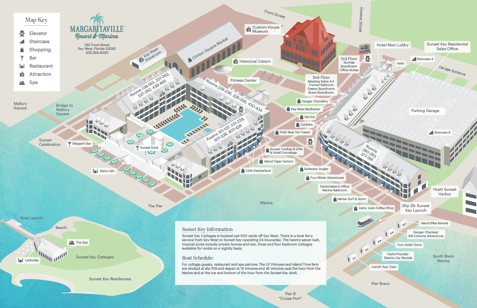 Resort Map - Map Of Hotels In Key West Florida