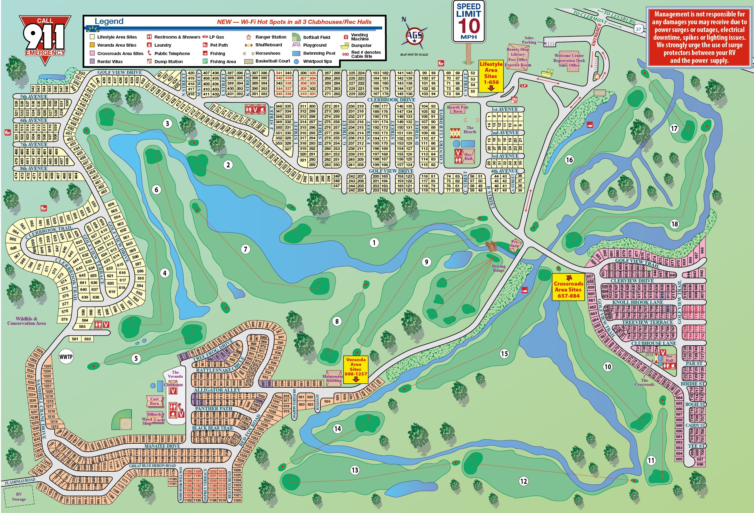 Resort Map - Map Of Rv Parks In Florida