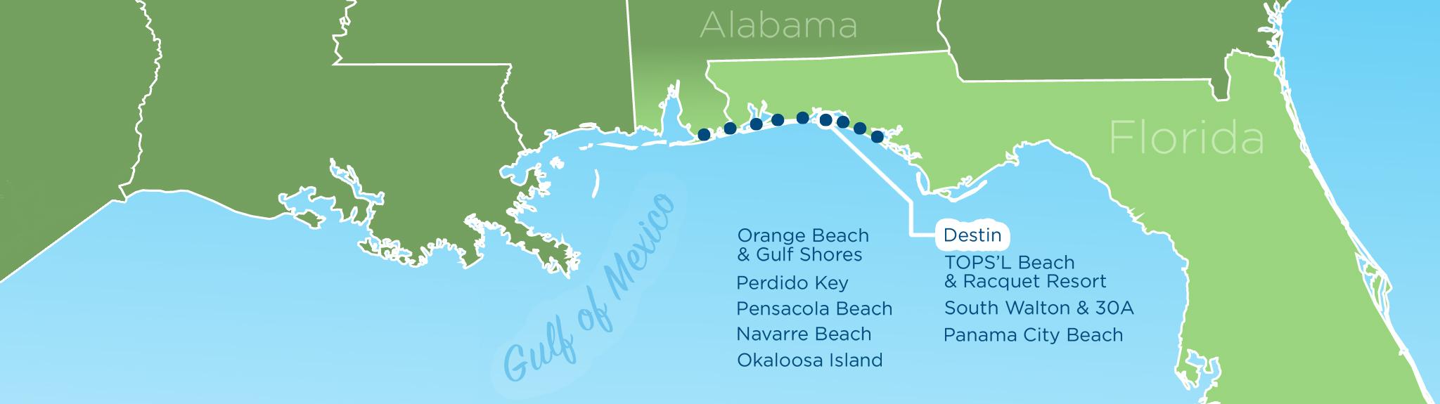 Resortquest Real Estate | Nw Fl & Al Gulf Coast Condos And Homes For - Gulf Shores Florida Map