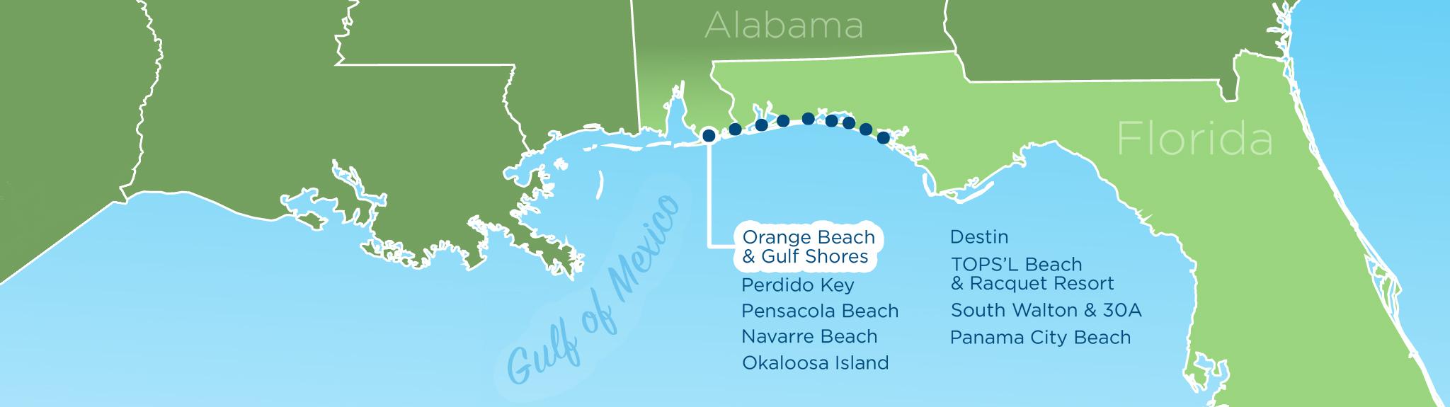 Resortquest Real Estate | Nw Fl & Al Gulf Coast Condos And Homes For - Map Of Destin Florida Area