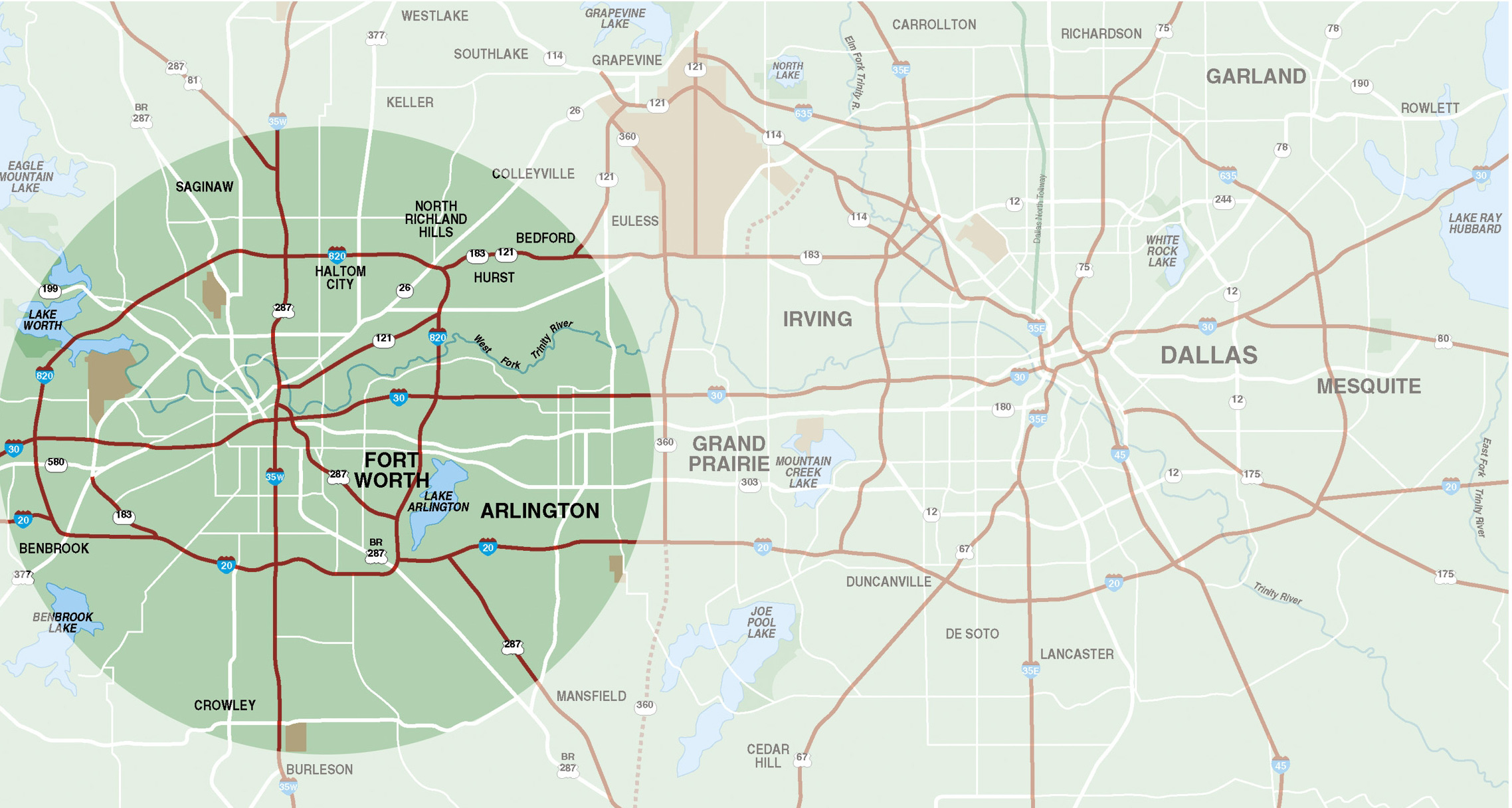 Resources & Faqs | Fort Worth Chamber | Chamber Of Commerce - Street Map Of Fort Worth Texas