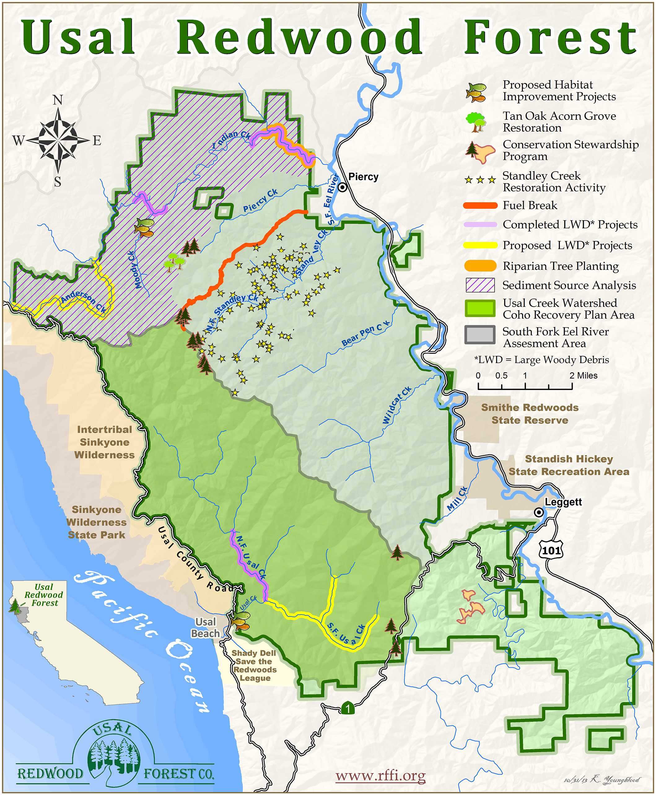 Restoration Projects 2013 Redwood Forest Foundation Best Of - California Redwood Parks Map