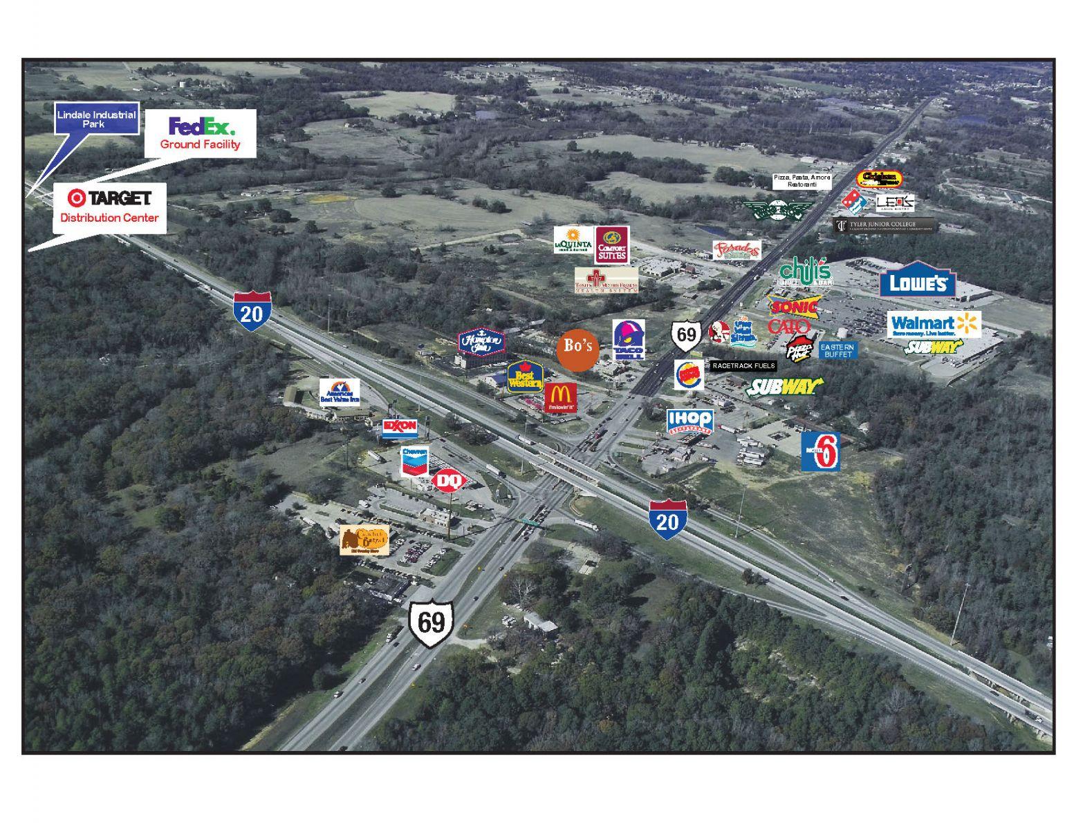 Retail | Lindale Edc - Lindale Texas Map