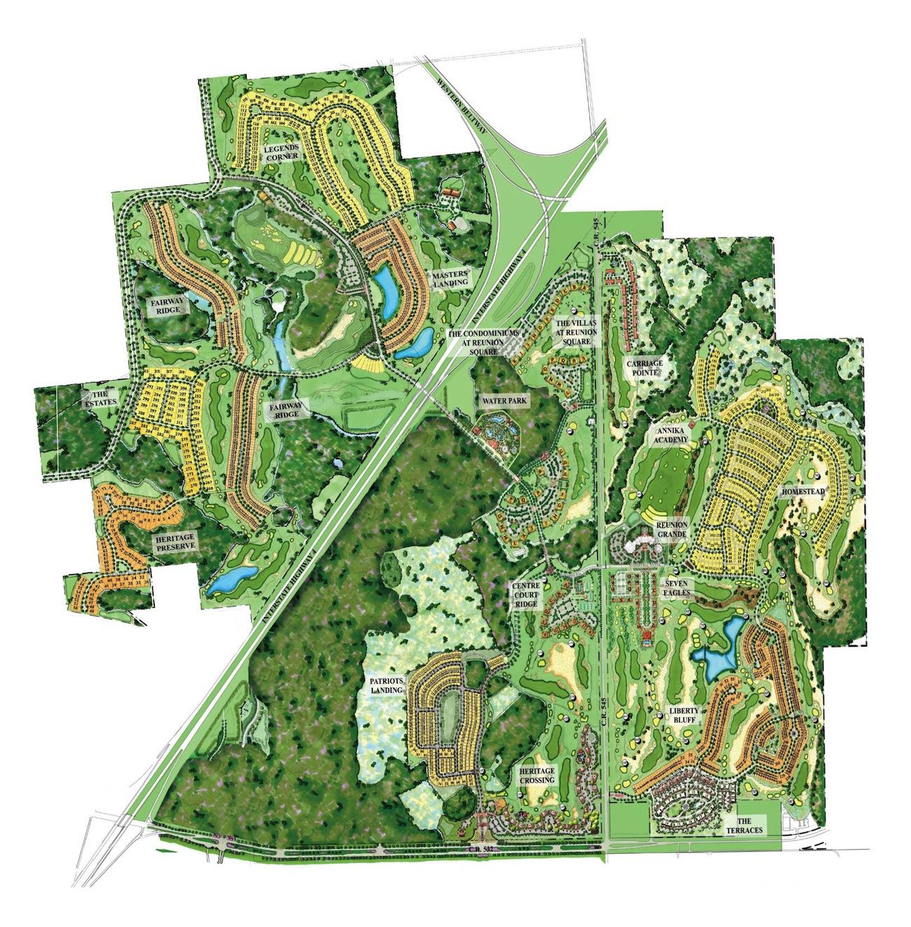Reunion Resort Communities Neighbourhoods - Where To Stay - Reunion - Reunion Florida Map