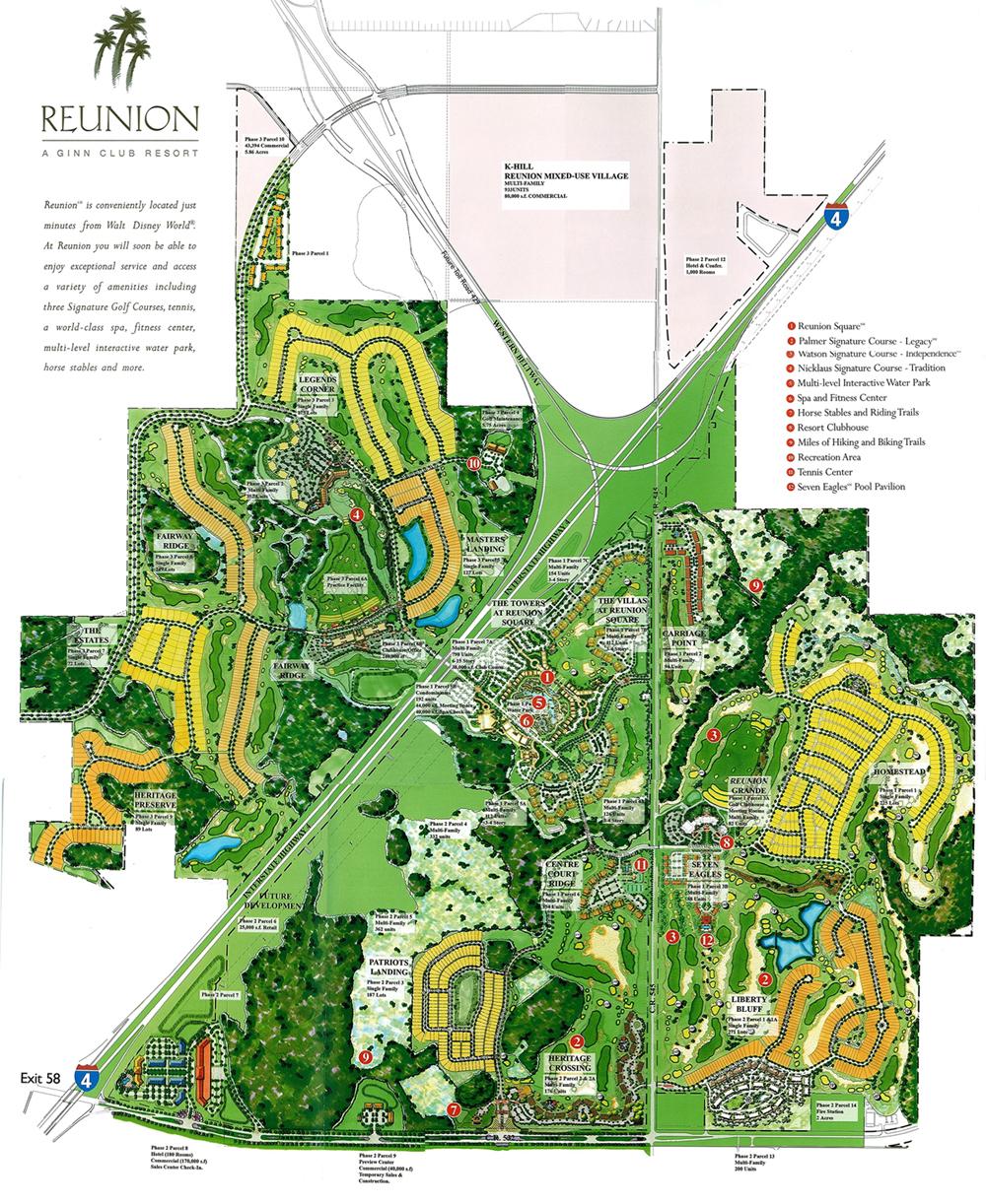 Reunion Resort – Juan Delgado Real Estate 2018 - Reunion Florida Map