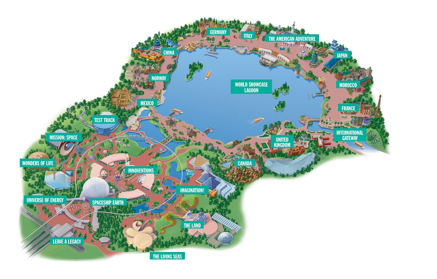 Reveillon Na Disney: Como Foi A Festa No Epcot Center | Places I - Epcot Florida Map