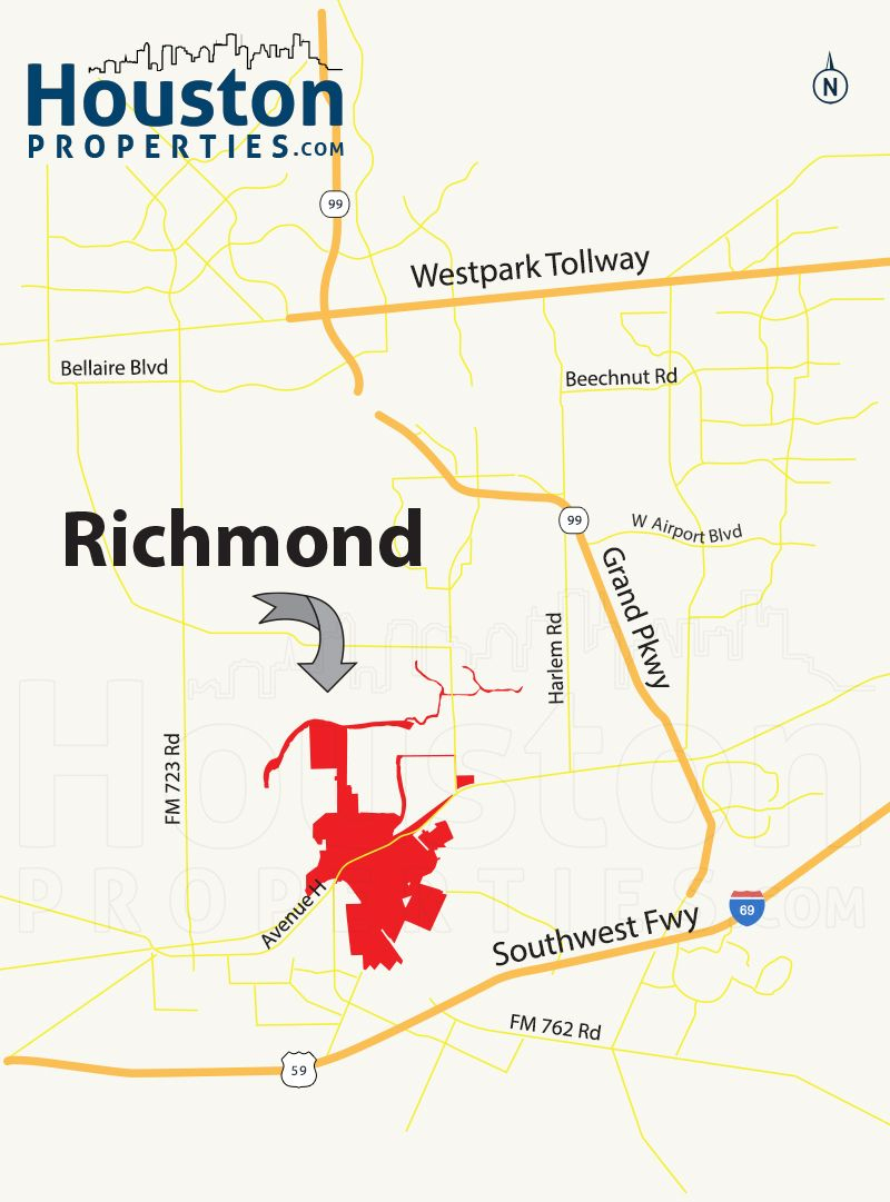 Richmond Tx Map | Great Maps Of Houston | Pinterest | Richmond Homes - Map Of Richmond Texas Area