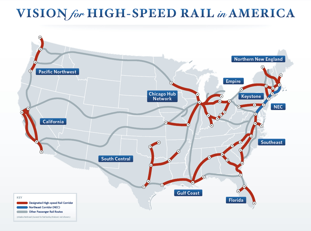 Riding The Rails - High Speed Rail Texas Route Map