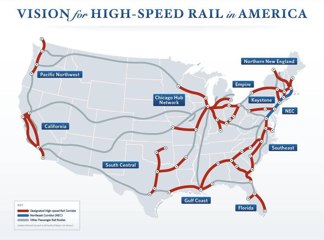 Riding The Rails - High Speed Rail Texas Route Map