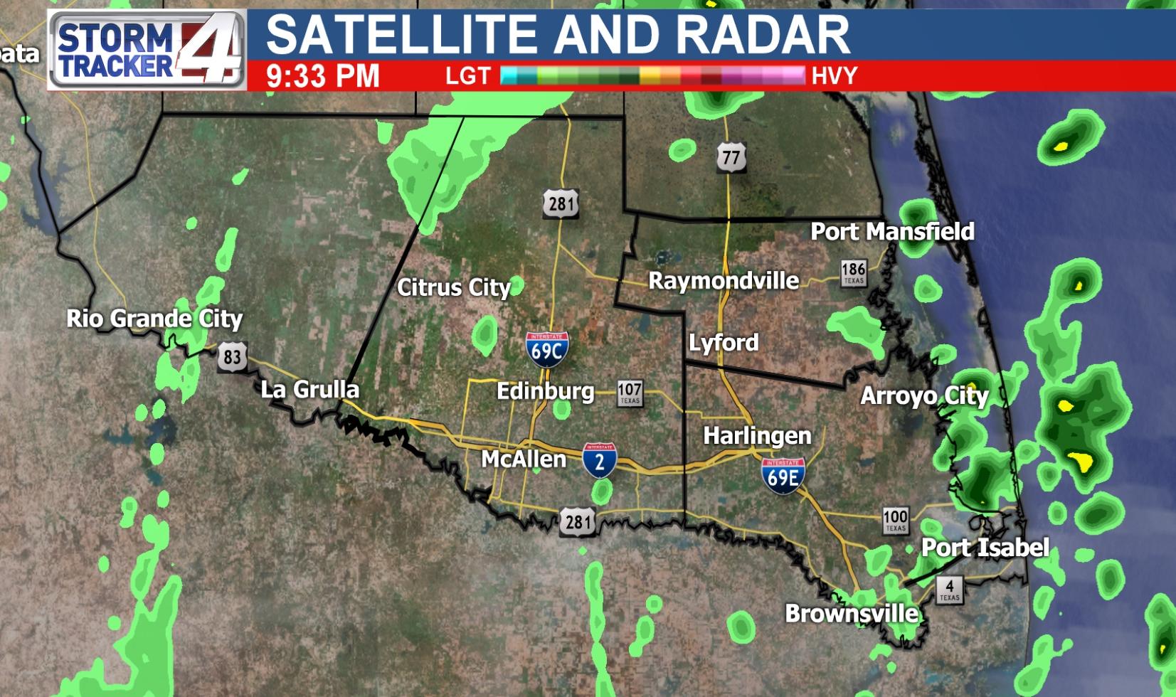 Rio Grande Valley Weather   News, Weather, Sports, Breaking News   Kgbt - Texas Satellite Weather Map