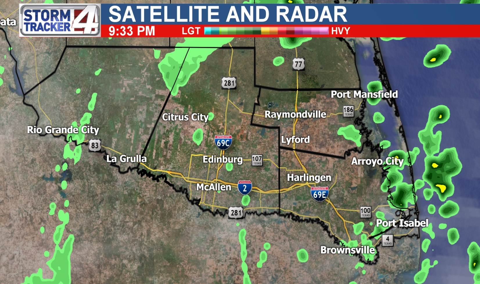 Rio Grande Valley Weather | News, Weather, Sports, Breaking News | Kgbt - Texas Weather Map Today