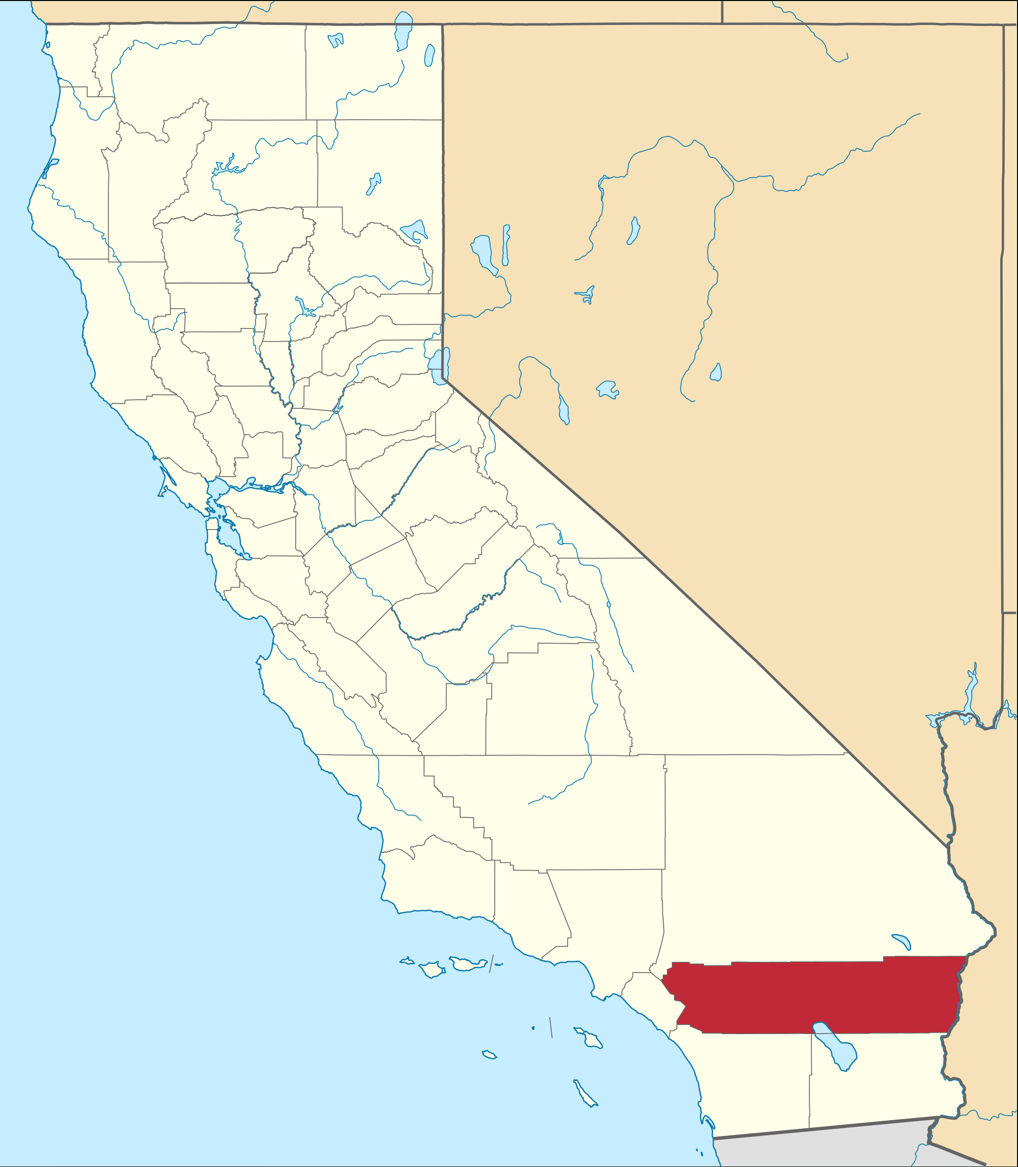 Riverside County, California - Wikipedia - Indian Wells California Map