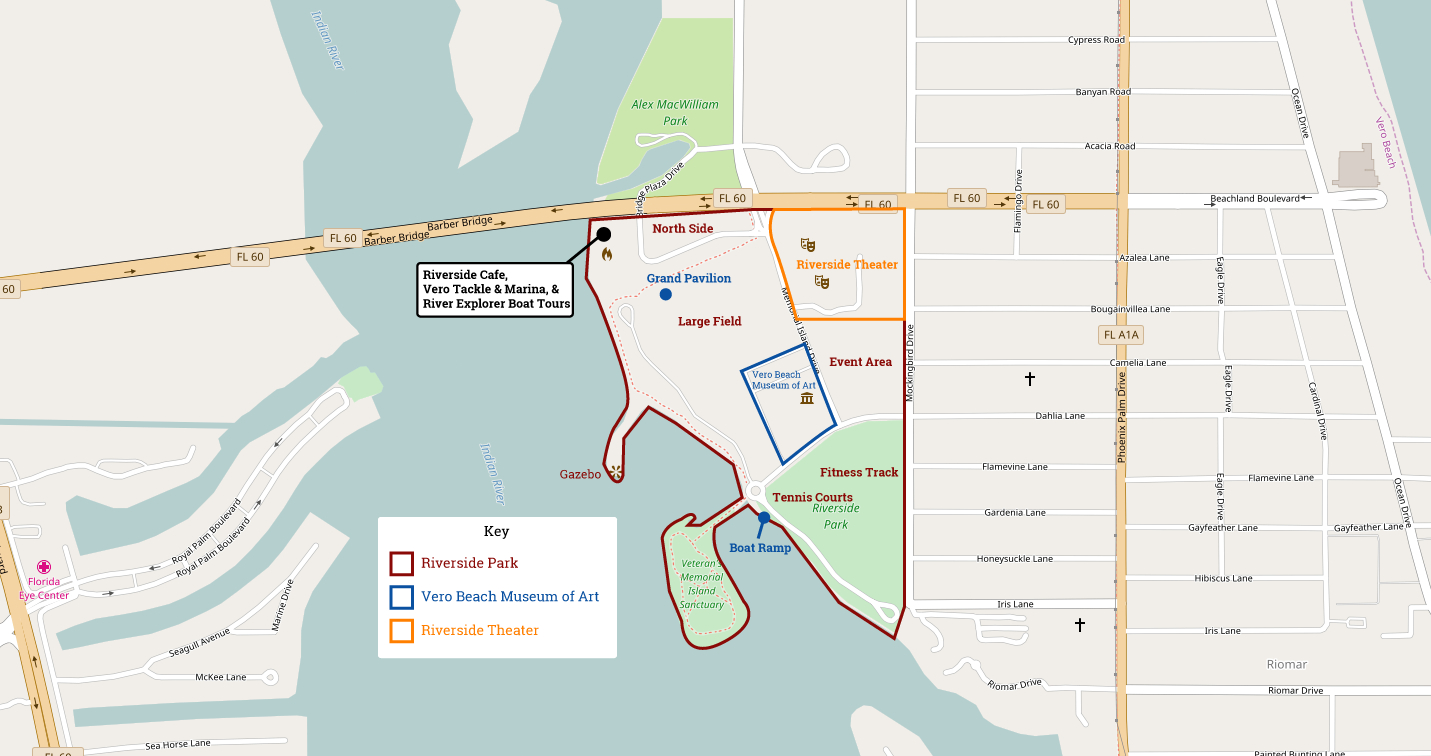 Riverside Park Vero Beach Florida | Navfile - Map Of Vero Beach Florida Area