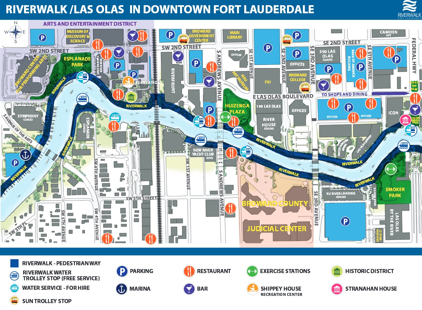 Riverwalk Fort Lauderdale – Information ◇ Events ◇ Advocacy - Street Map Of Fort Lauderdale Florida