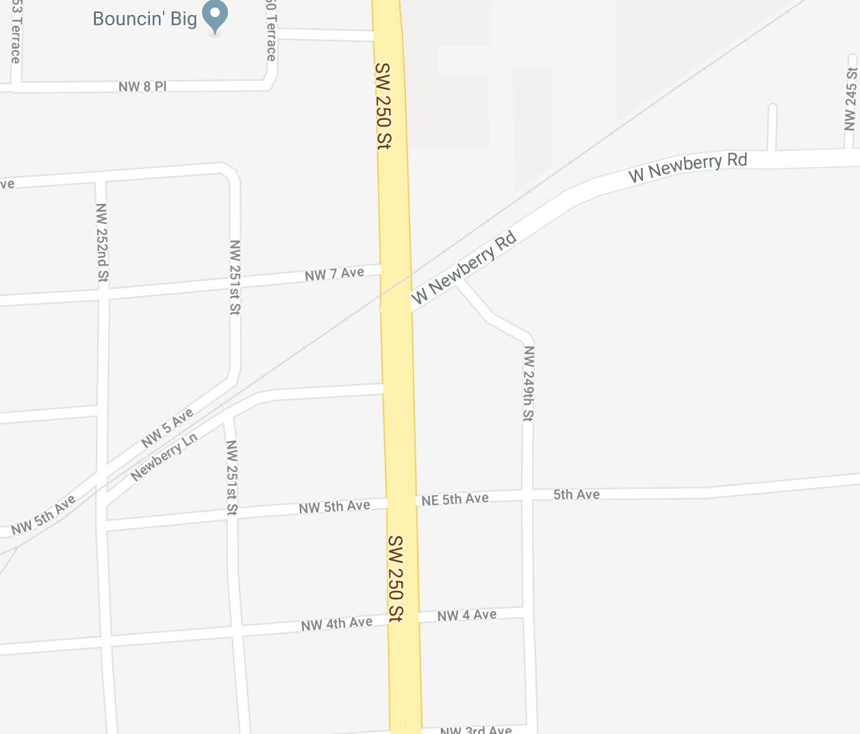 Road Closure - Newberry Lane | Newberry Florida - Newberry Florida Map