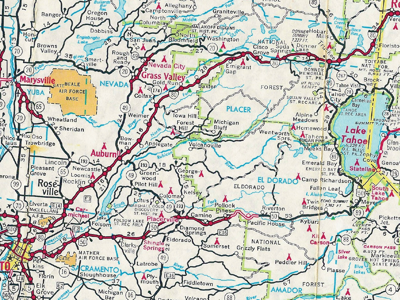Road Map Northern California - Klipy - Road Map Of Northern California