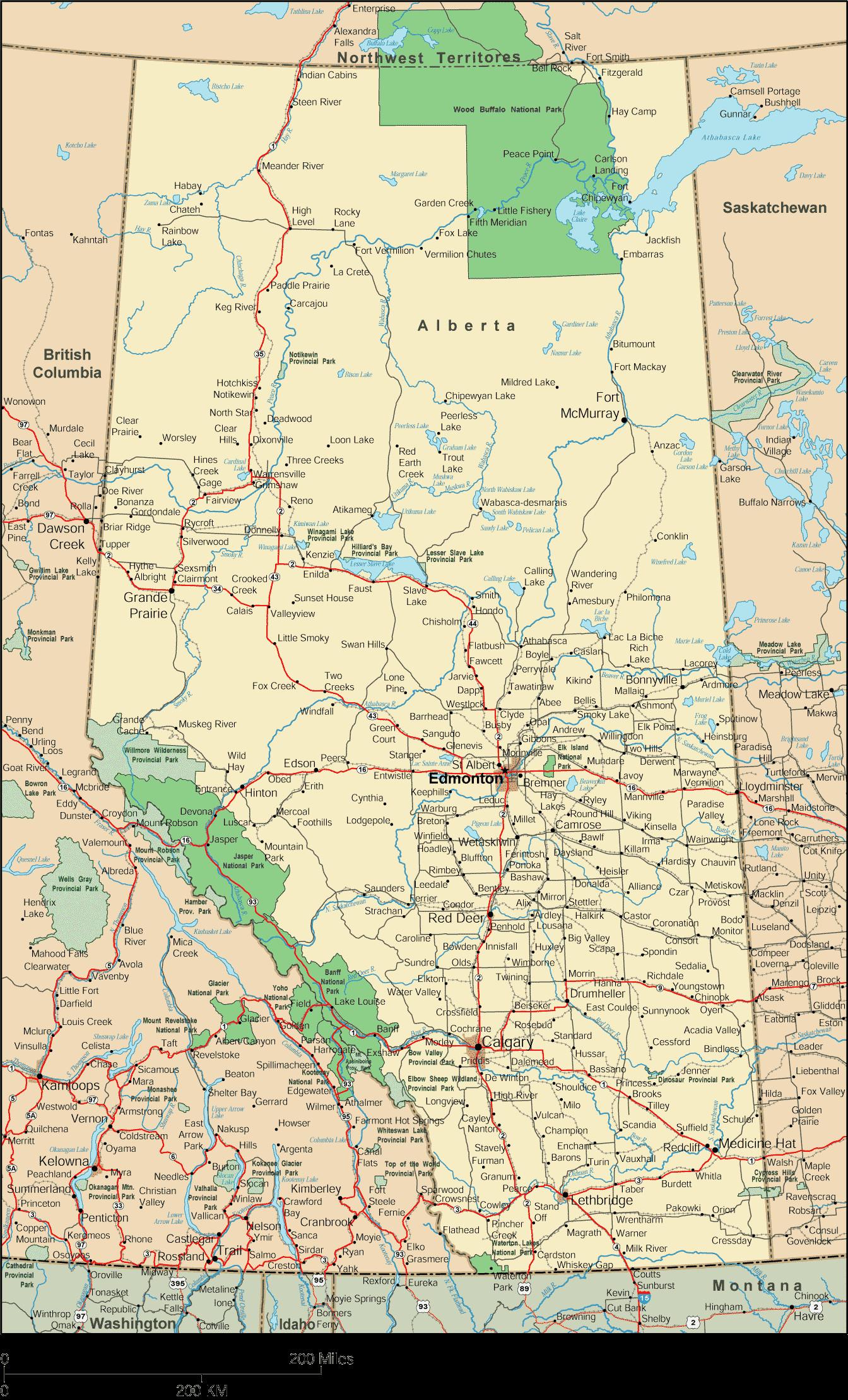 Road Map Of Baja California Mexico Printable Alberta Map Alberta - Printable Road Map Of Canada