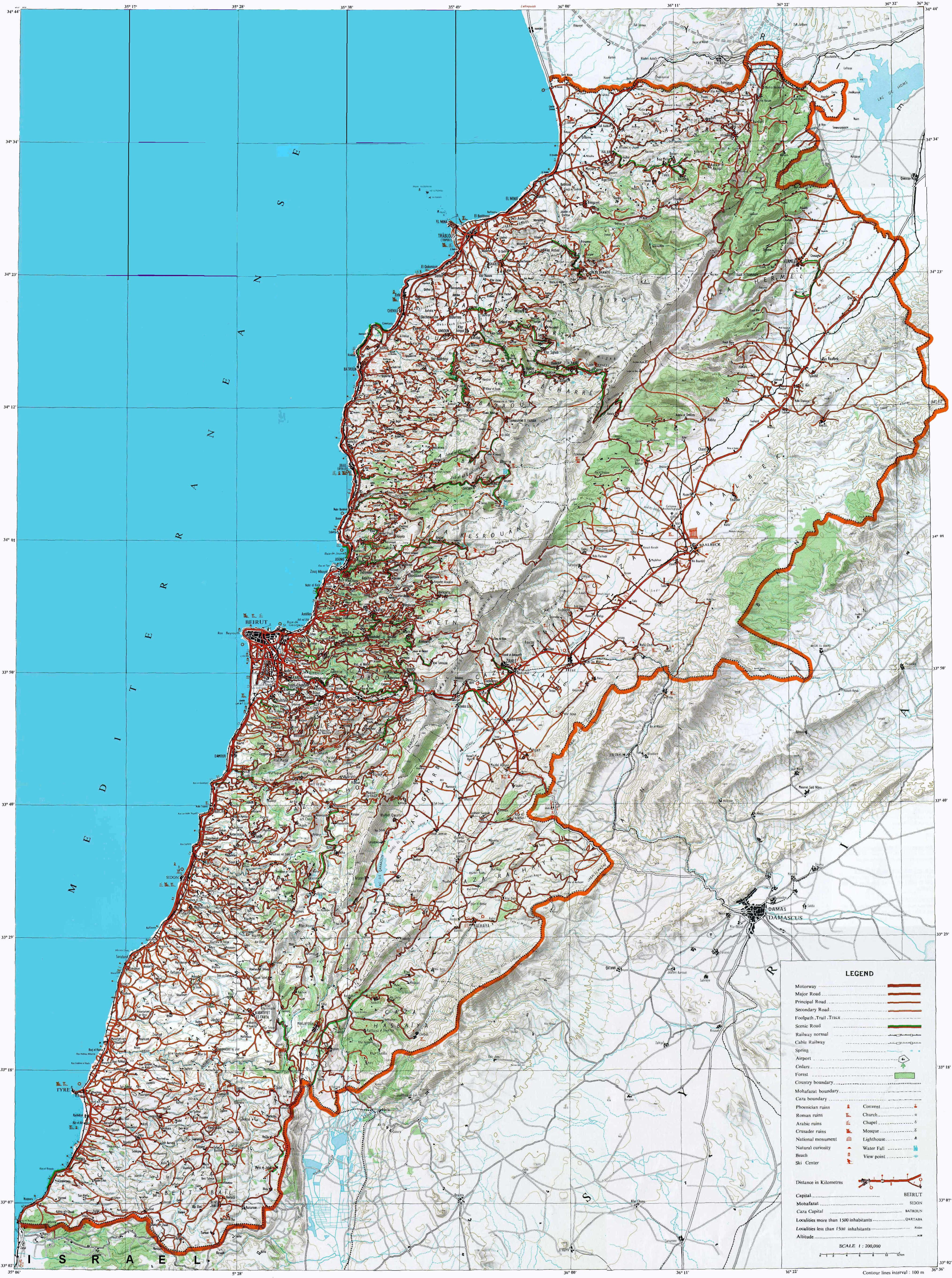 Road Map Of Baja California Mexico Printable Topographical Map Of - Baja California Topographic Maps