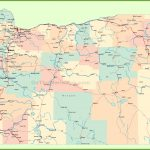 Road Map Of Oregon With Cities   California Oregon Washington Road Map