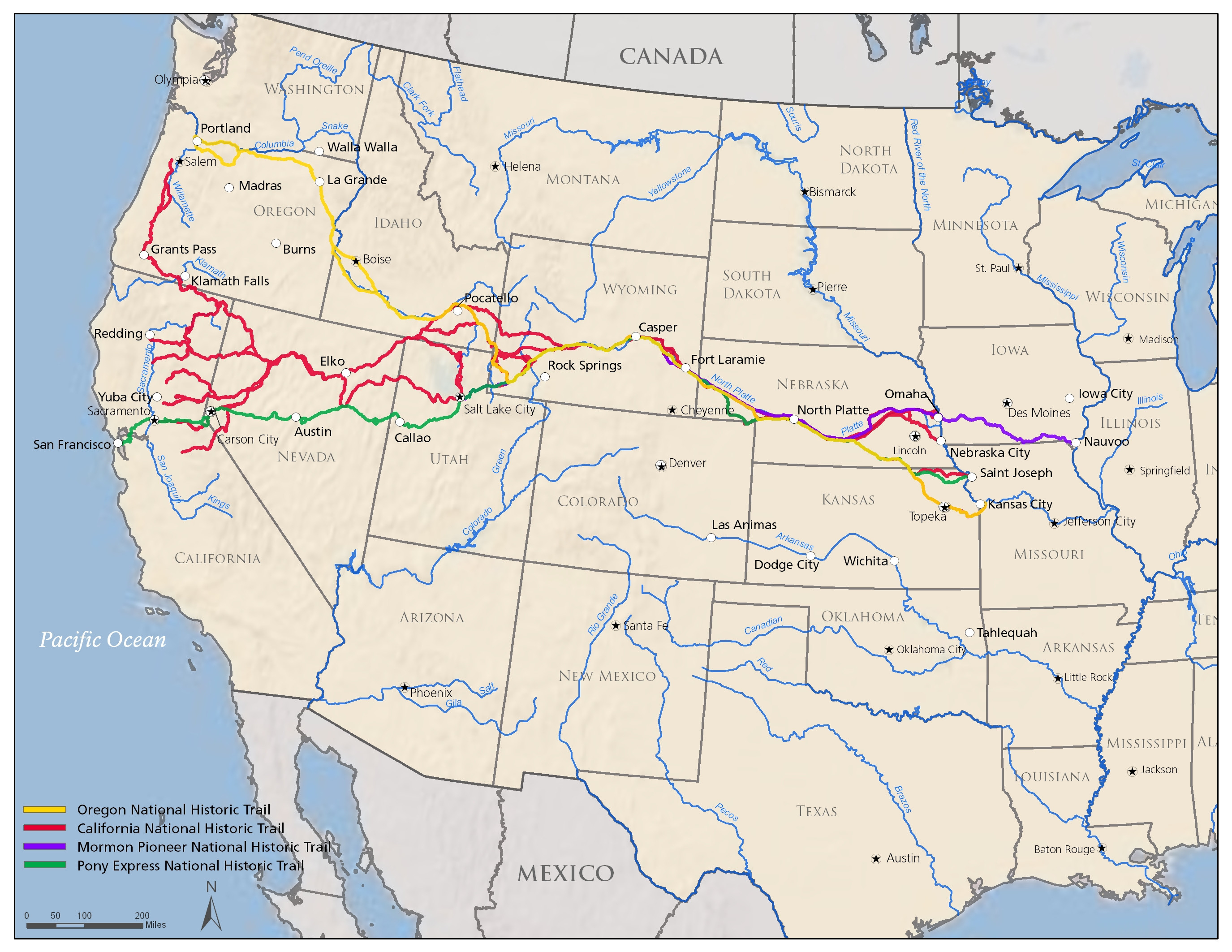 Road Map Of Southern Oregon And Northern California Detailed Map - Road Map Of Southern Oregon And Northern California
