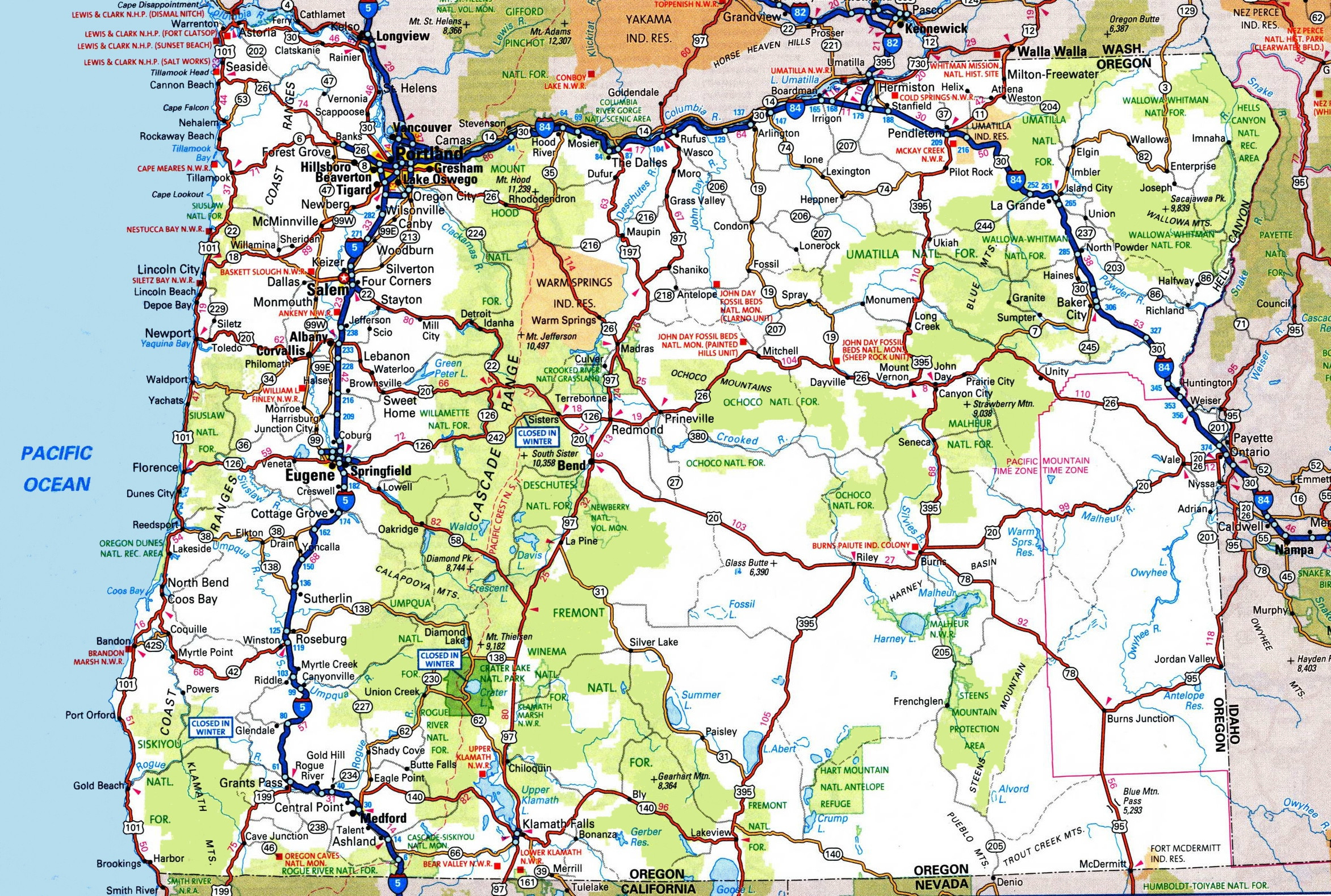 Road Map Of Southern Oregon And Northern California Valid Oregon - Road Map Oregon California