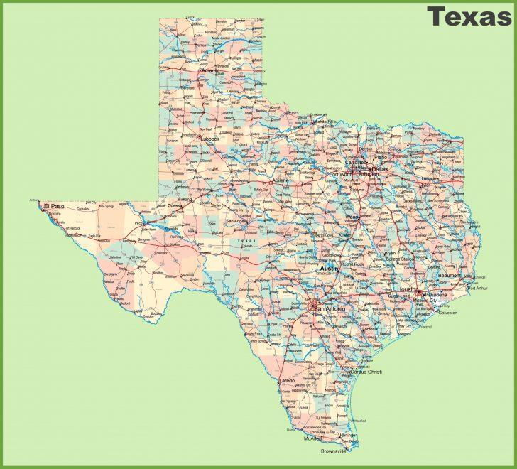 Texas Map Of Texas