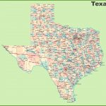 Road Map Of Texas With Cities   Texas Road Map 2018