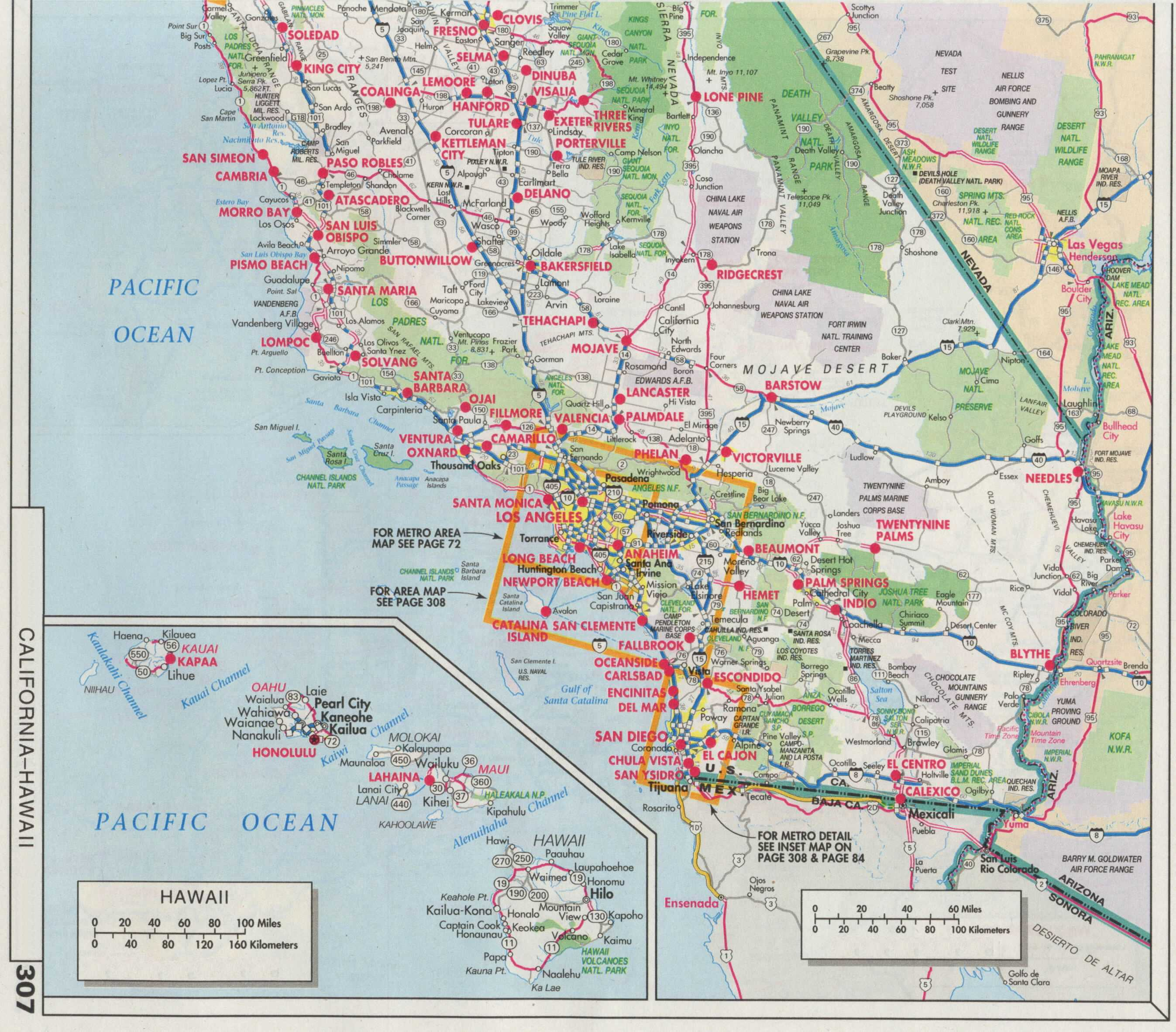 Road Map Southern California - Klipy - Detailed Map Of Southern California