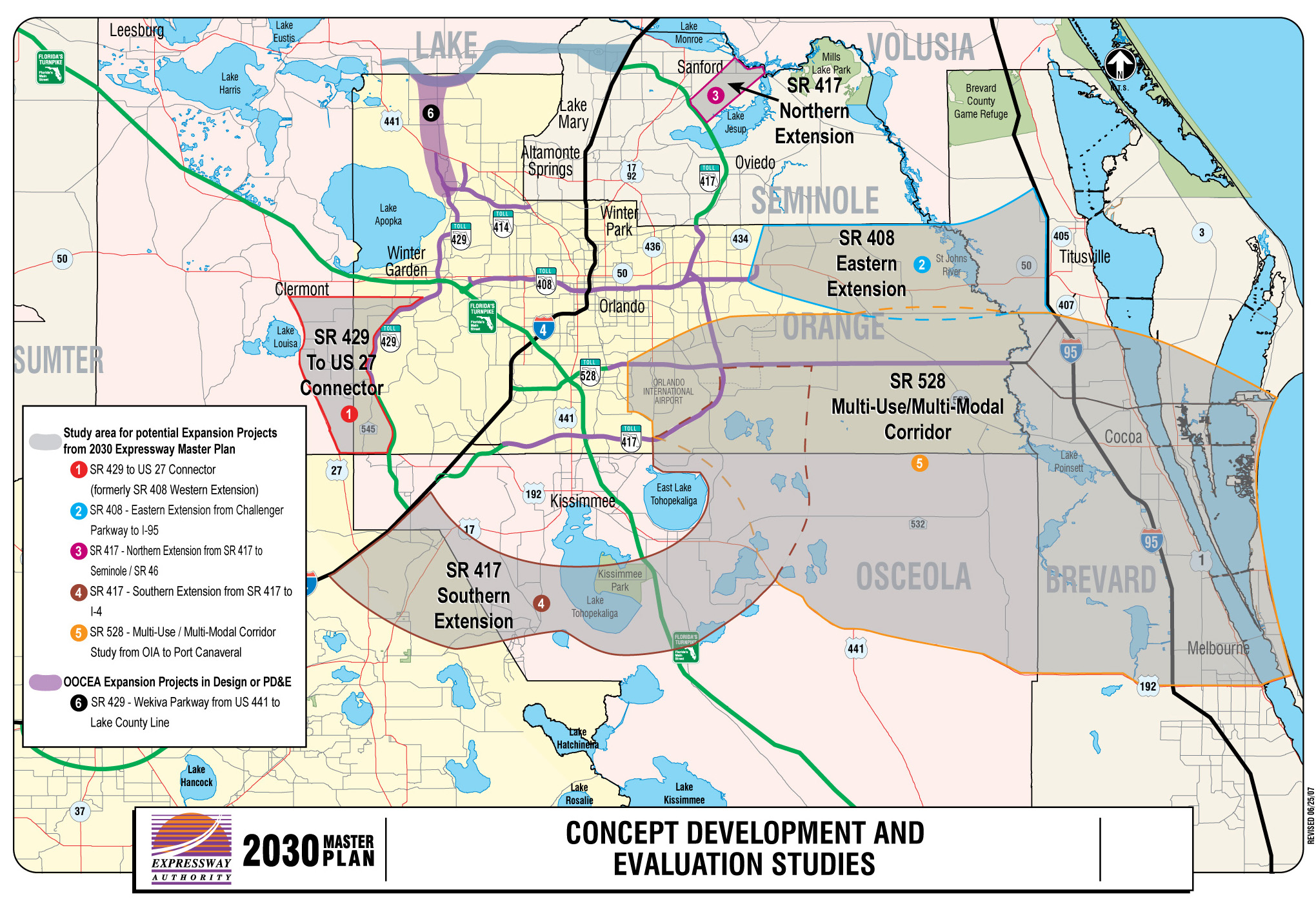 Road Maps Of Orlando And Travel Information | Download Free Road - Road Map Of Central Florida