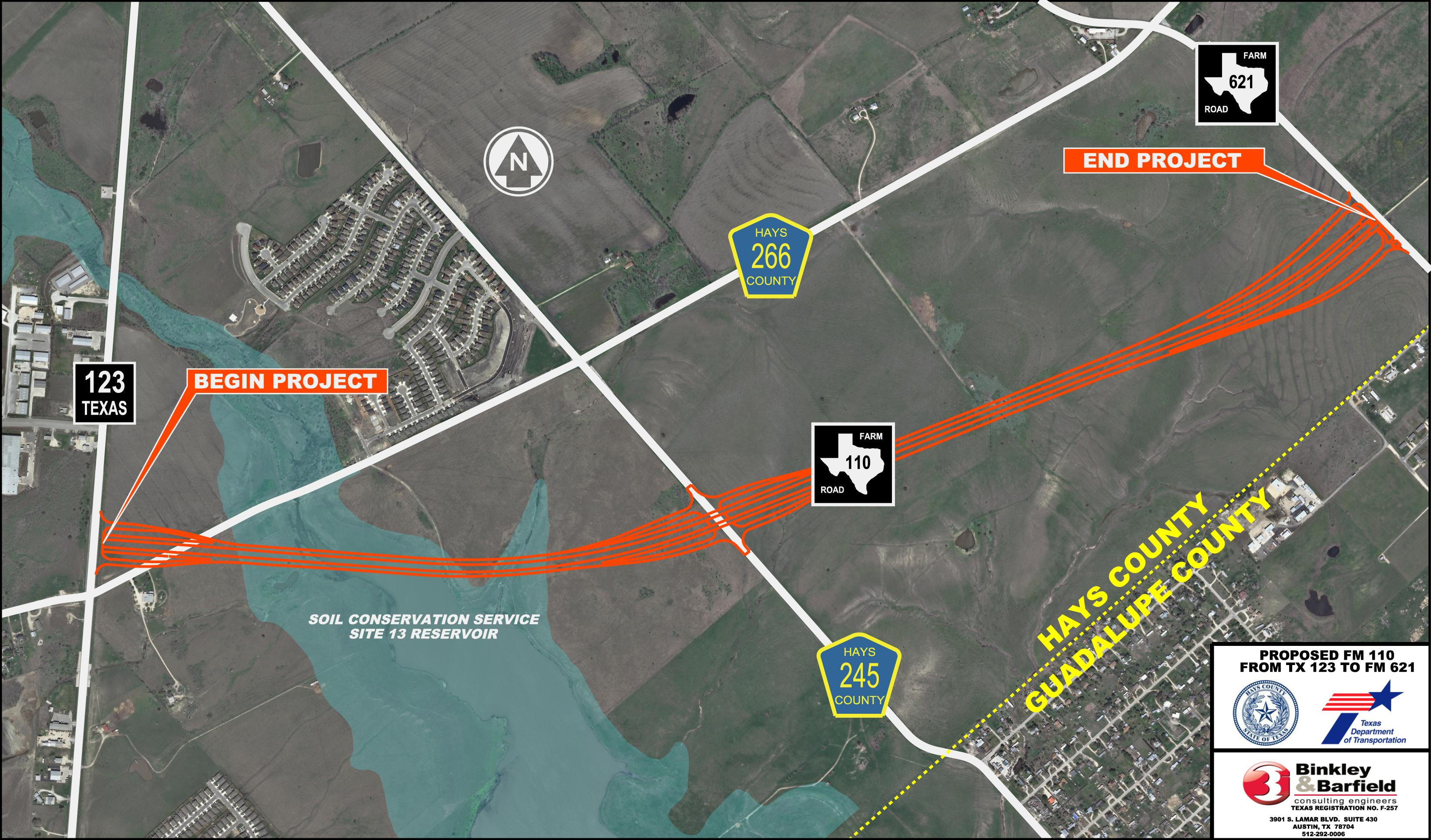 Road Projects - Hays County - Texas Highway Construction Map