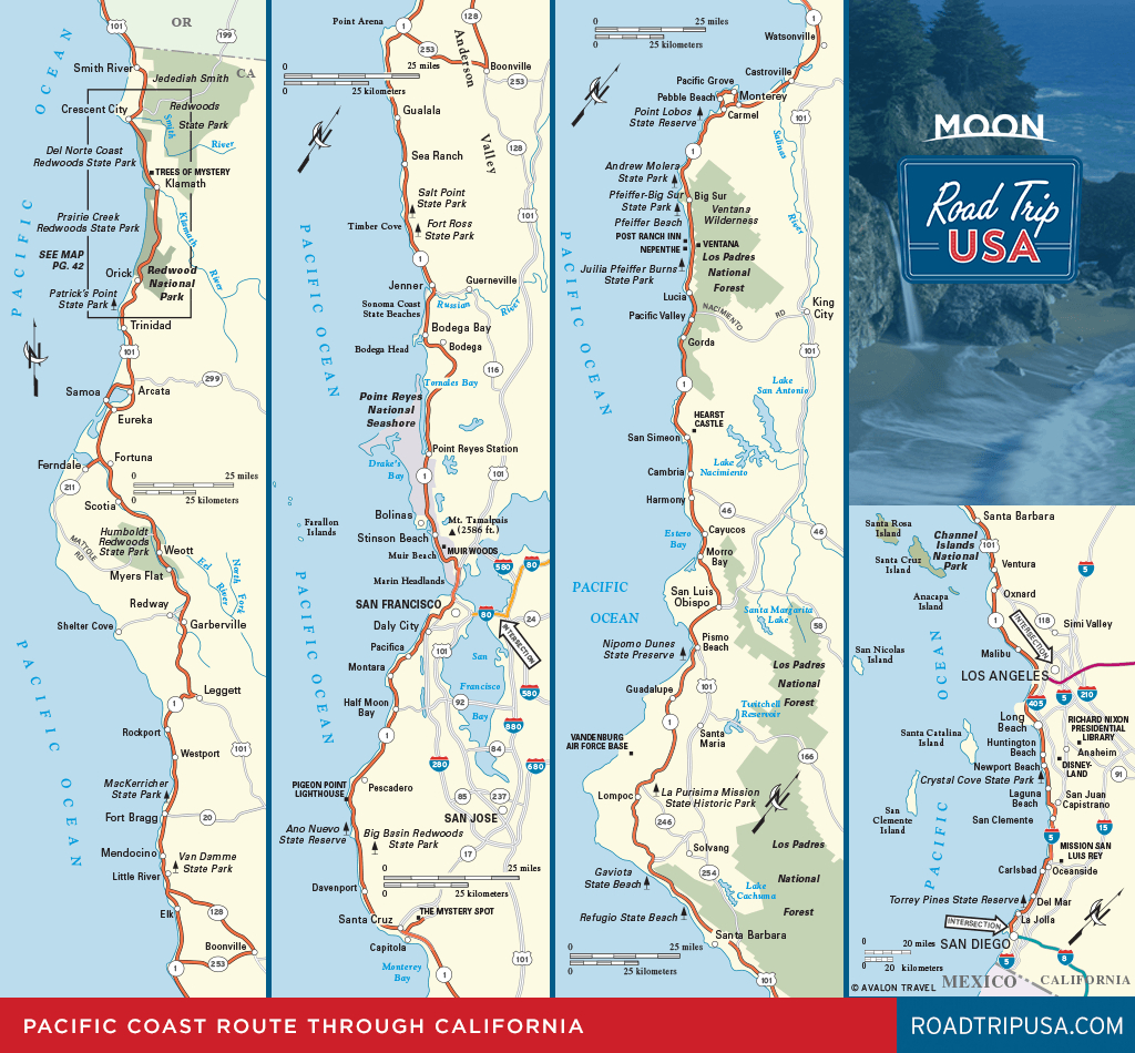 Road Trip California On The Classic Pacific Coast Route | Road Trip Usa - Road Trip California Map