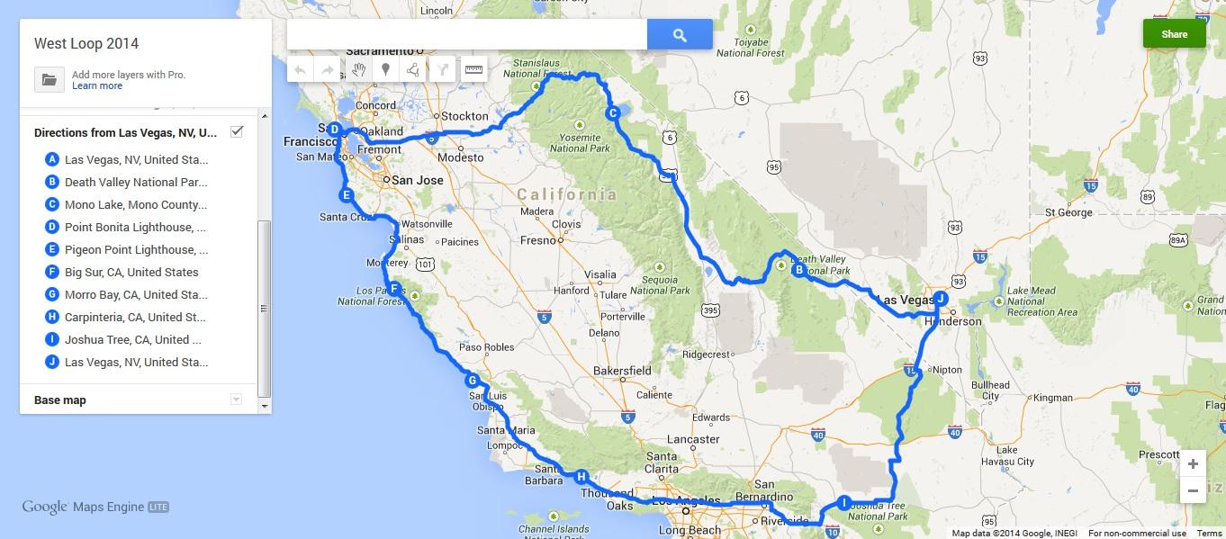 Road Trip To California Map California California Road Trip Trip - California Road Trip Trip Planner Map
