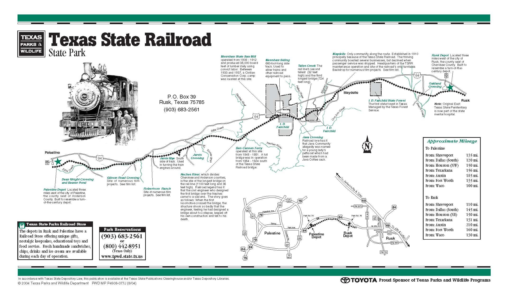 Roadtrip October 2014Links - Texas State Railroad Route Map